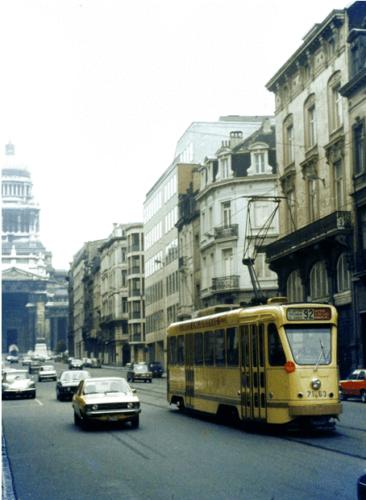 Photographie de Bruxelles illustrant le temps maussade que la Belgique a connu durant l'été 1977. Crédit photo : Steve Guess - 17 août 1977