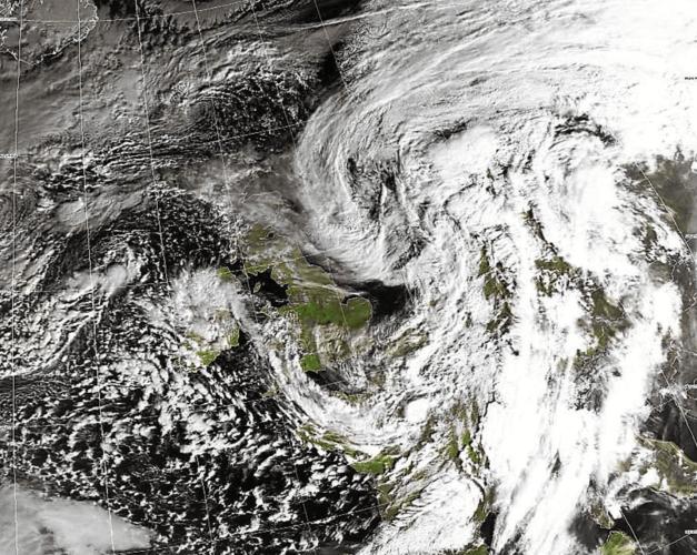 La tempête Freya en matinée du 4 mars (source: wokingham weather).
