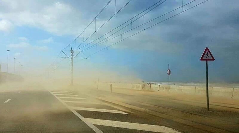 La tempête Eberhard à Middelkerke, le 10 mars 2019. Crédit photo : Patrick Gerard
