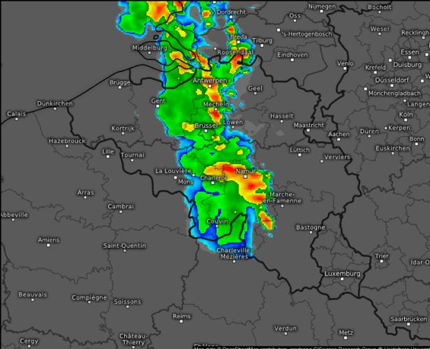 Image radar du 4 juin 2019 à 21h00. Source: Kachelmann Wetter.