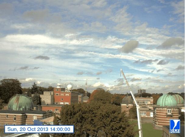 Webcam d'Uccle à 14h00 le 20 octobre 2013. Source : IRM