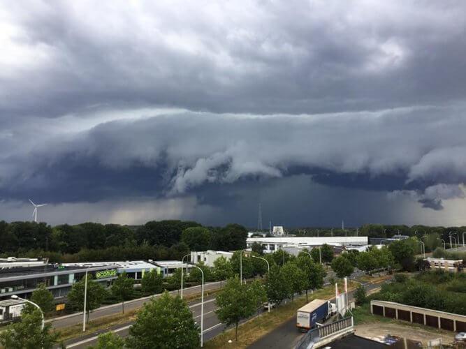 Cellule orageuse dans la région de Herentals, en province d'Anvers, le 16 août 2020. Crédit photo : Vicky Briers