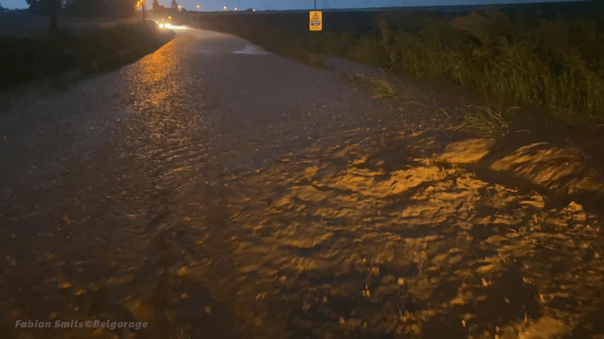 Inondations dans la région de Villers-la-Ville, en province de Brabant Wallon, le 2 juin 2021.