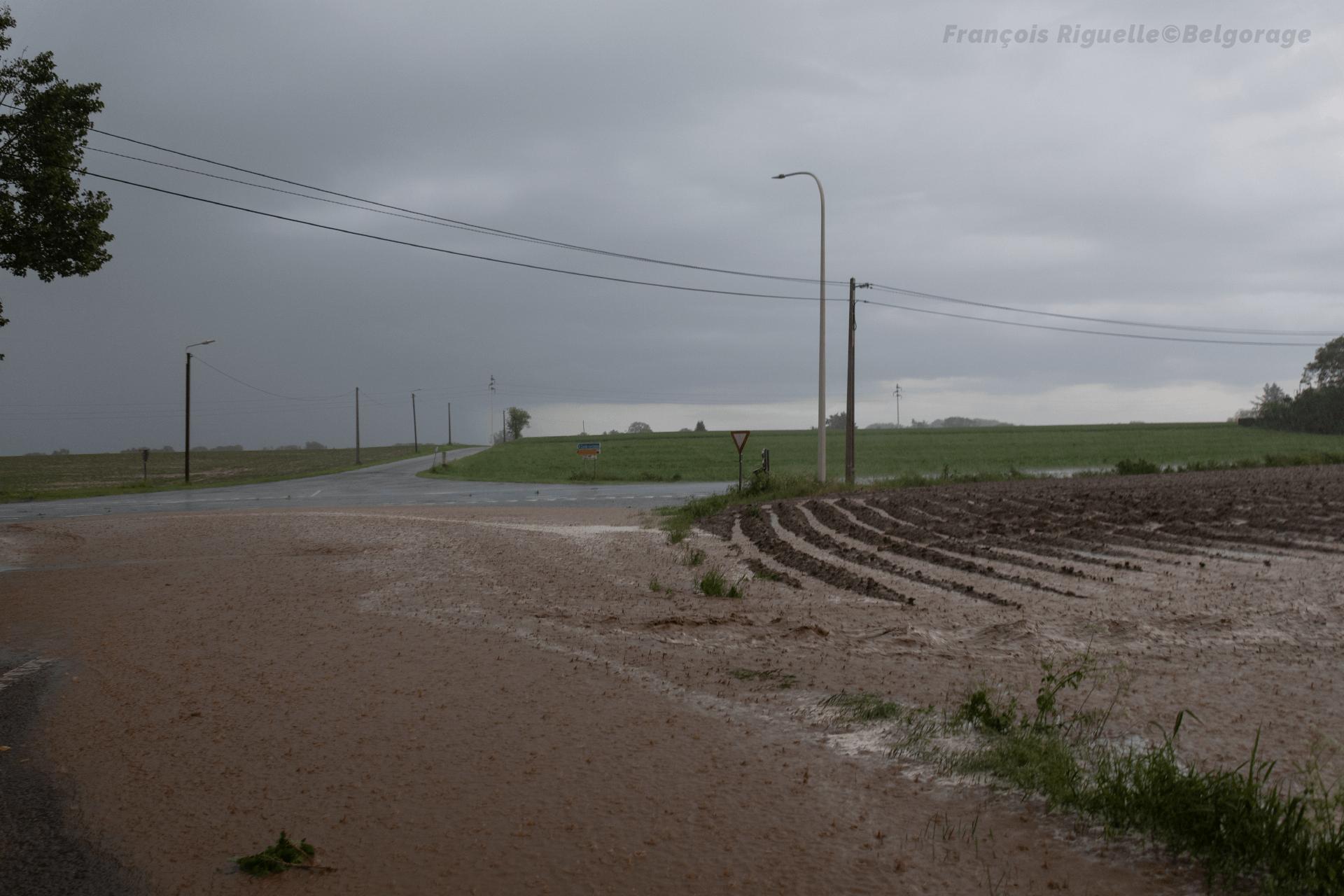 Coulée de boue à Braine-le-Château, en province de Namur, le 2 juin 2021.